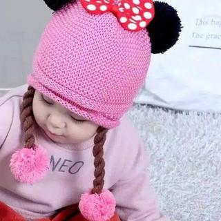 Mũ Len Hình Chuột Minnie Tp3 Cho Bé Gái