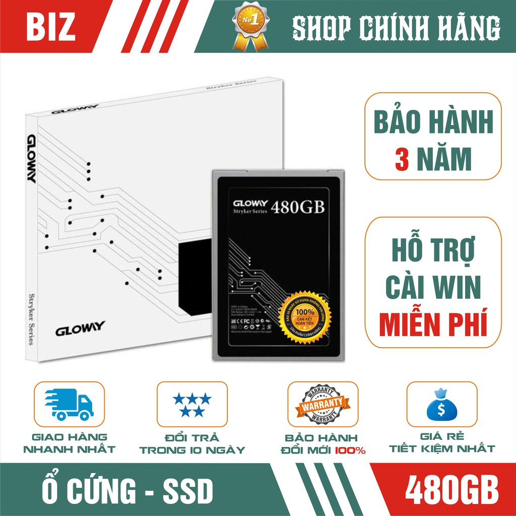 Ổ Cứng SSD 480GB Gloway – Bảo Hành Chính Hãng 36 Tháng 1 Đổi 1 Giá chỉ 1.099.000₫