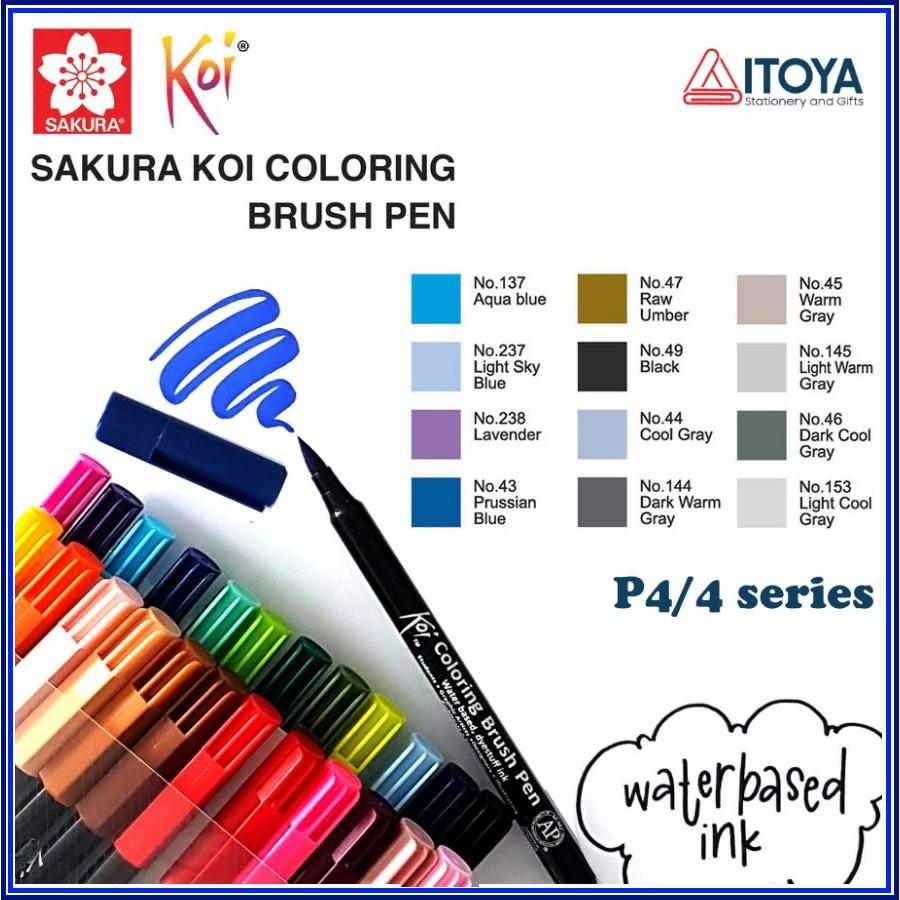 [Mã SKAMA07 giảm 8% tối đa 50K đơn 250K] [P4] Bút Sakura KOI Coloring Brush