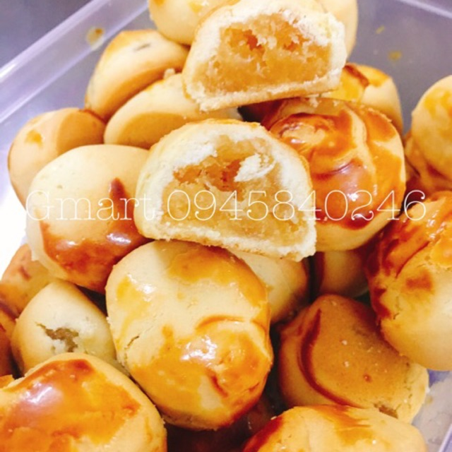 Bánh dứa mini Đài Loan nhân mứt dứa siêu ngon  hộp 328gram