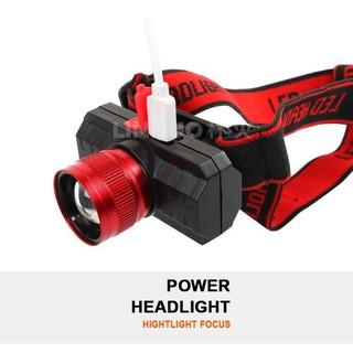 Đèn đội đầu siêu sáng bóng creed Q5 điều chỉnh xoay 90 độ có zoom