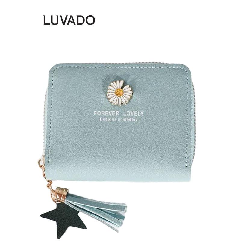 Ví nữ mini cao cấp cầm tay MADLEY đẹp nhỏ gọn bỏ túi đựng tiền LUVADO VD419