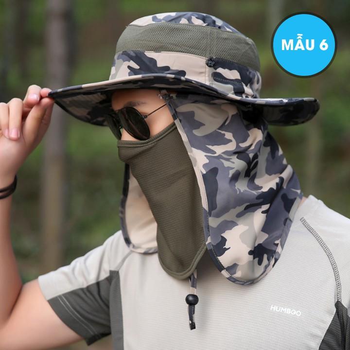 Mũ nón tai bèo kèm khẩu trang chống nắng đi câu