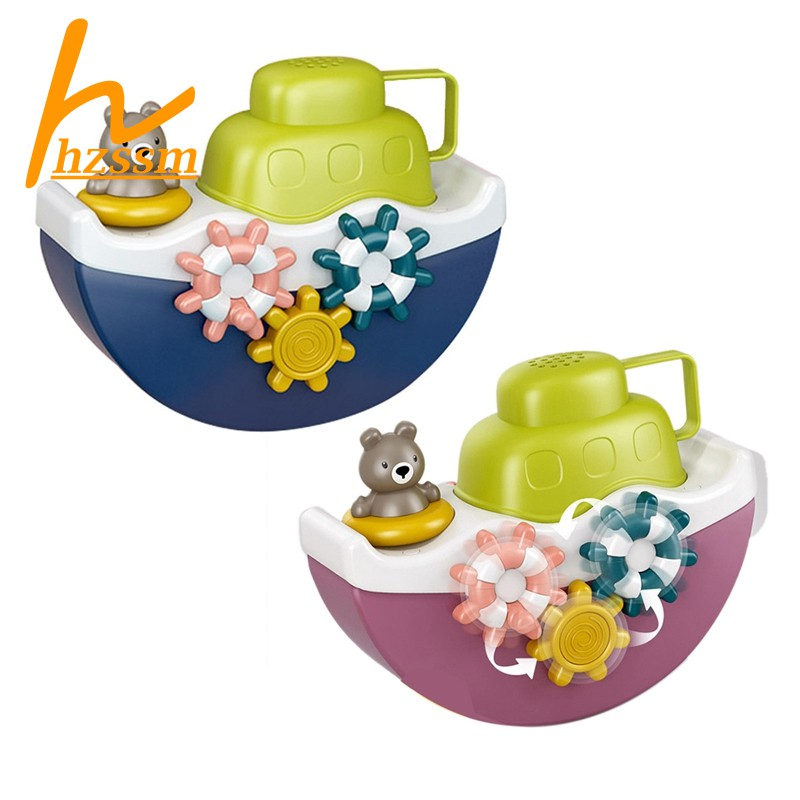 Baby Bath Sprinkle Toy with Alphabet Block Blocks for Kids(A)