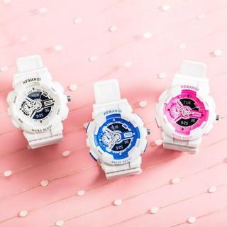 Đồng hồ thời trang nam nữ KEMANQI chạy kim giả điện tử cực đẹp J990