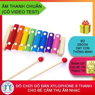 [HÀNG LOẠI 1] Đồ Chơi Gõ Đàn Xylophone 8 Thanh Cho Bé Cảm Thụ Âm Nhạc