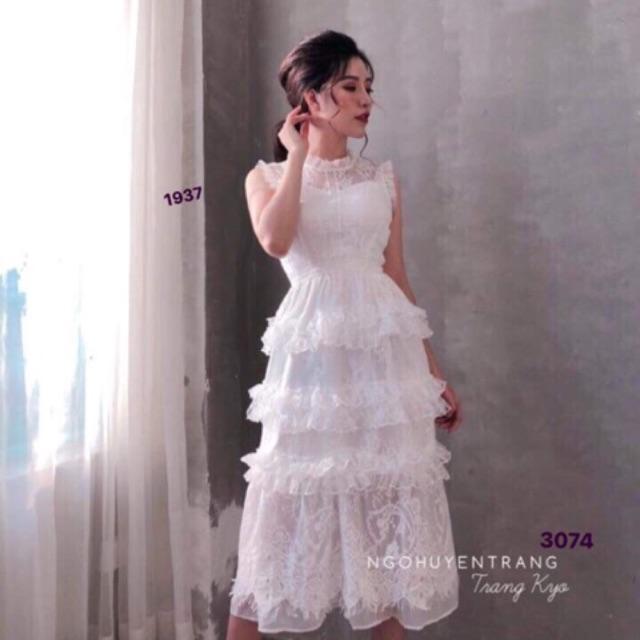 Đầm maxi trắng nhúng tầng phối ren và ảnh thật - 3264614 , 1088121443 , 322_1088121443 , 250000 , Dam-maxi-trang-nhung-tang-phoi-ren-va-anh-that-322_1088121443 , shopee.vn , Đầm maxi trắng nhúng tầng phối ren và ảnh thật