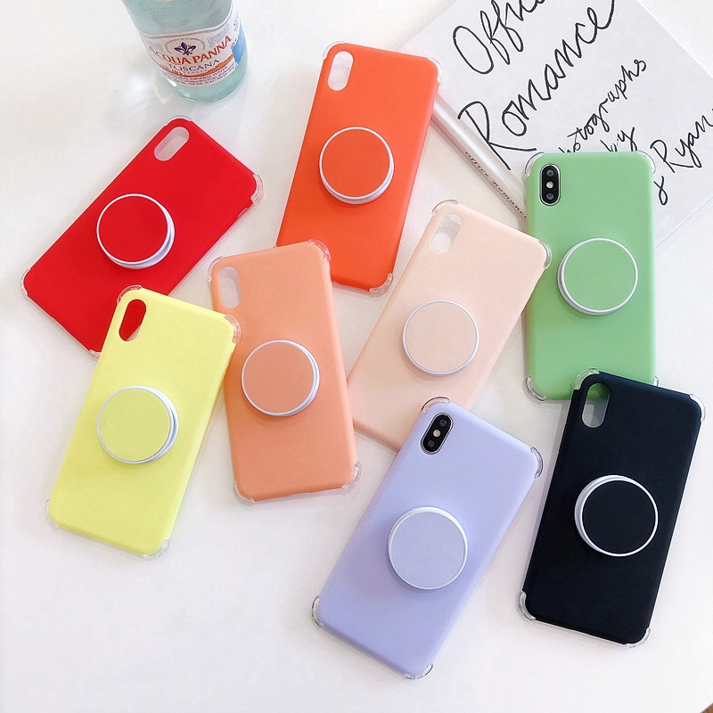 [ HA152 ] Soft Case iPhone 11 Pro 6 6s 7 8 Plus X XS MAX XR Candy solid color Cover