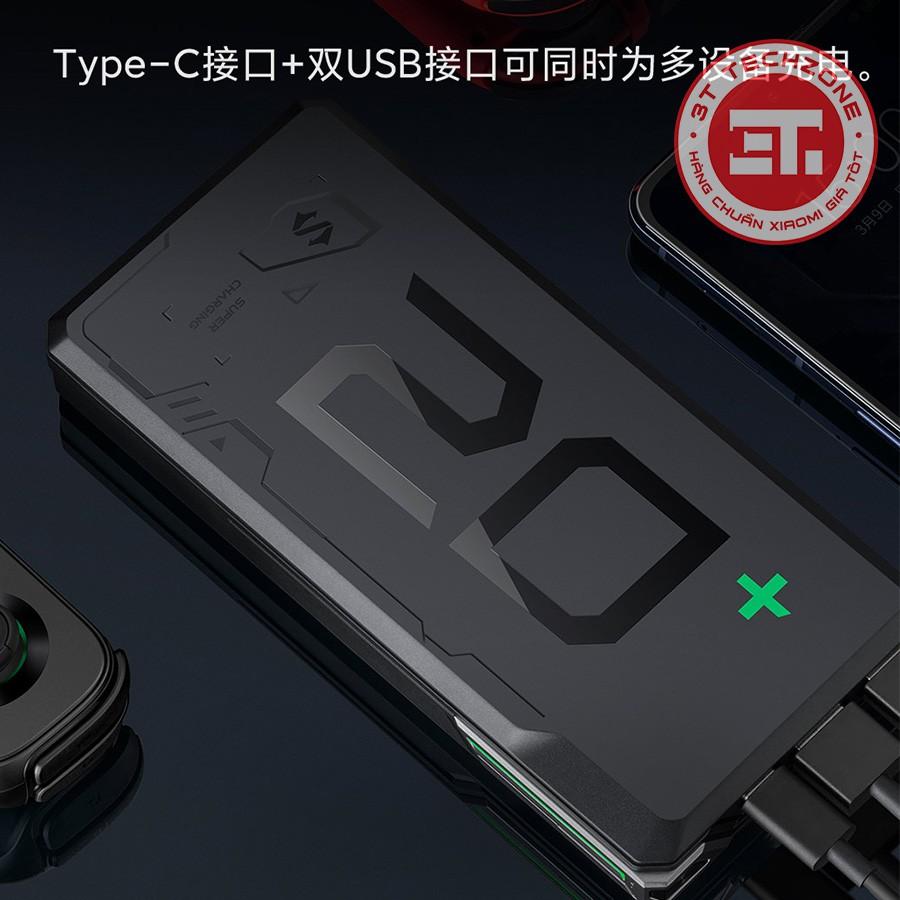 Pin sạc dự phòng Xiaomi Black Shark 20000mah - Hỗ trợ chuẩn PD 20w - Sạc  nhanh 2 chiều [ Chính hãng ] - Pin Sạc Dự Phòng Di Động