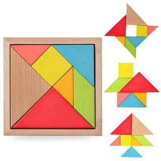 Đồ chơi gỗ cho bé dạng ghép Tangram