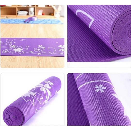 (HẾT HÀNG)Thảm tập yoga có hoa văn loại 1kg2 tặng kèm túi ( màu ngẫu nhiên)