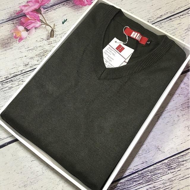 [Freeship 99k] áo len nam cổ tim Sukiya chất chính hãng