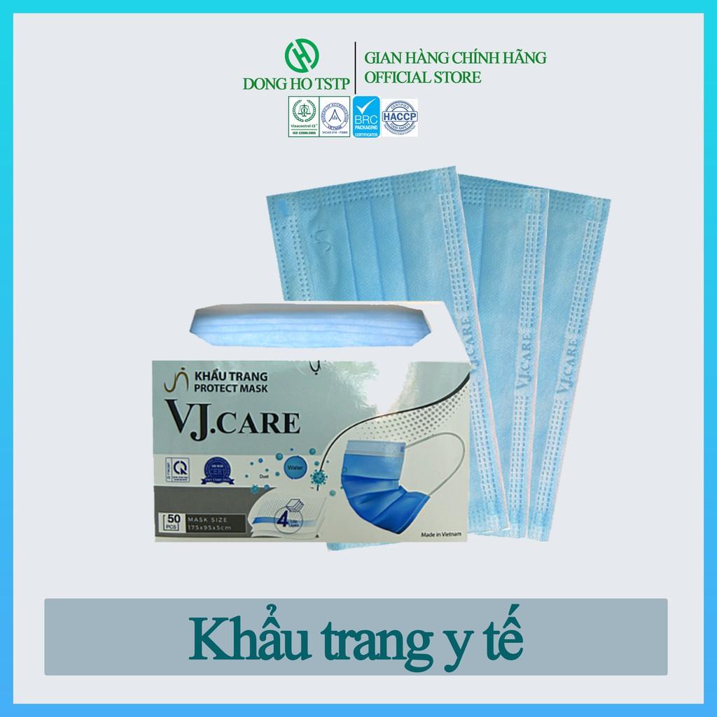 Hộp 50 cái - Khẩu trang y tế - Khẩu trang y tế kháng khuẩn màu xanh