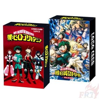 Set 30 Tấm Thẻ In Hình Nhân Vật Anime My Hero Academia 5.5cmx8.8cm