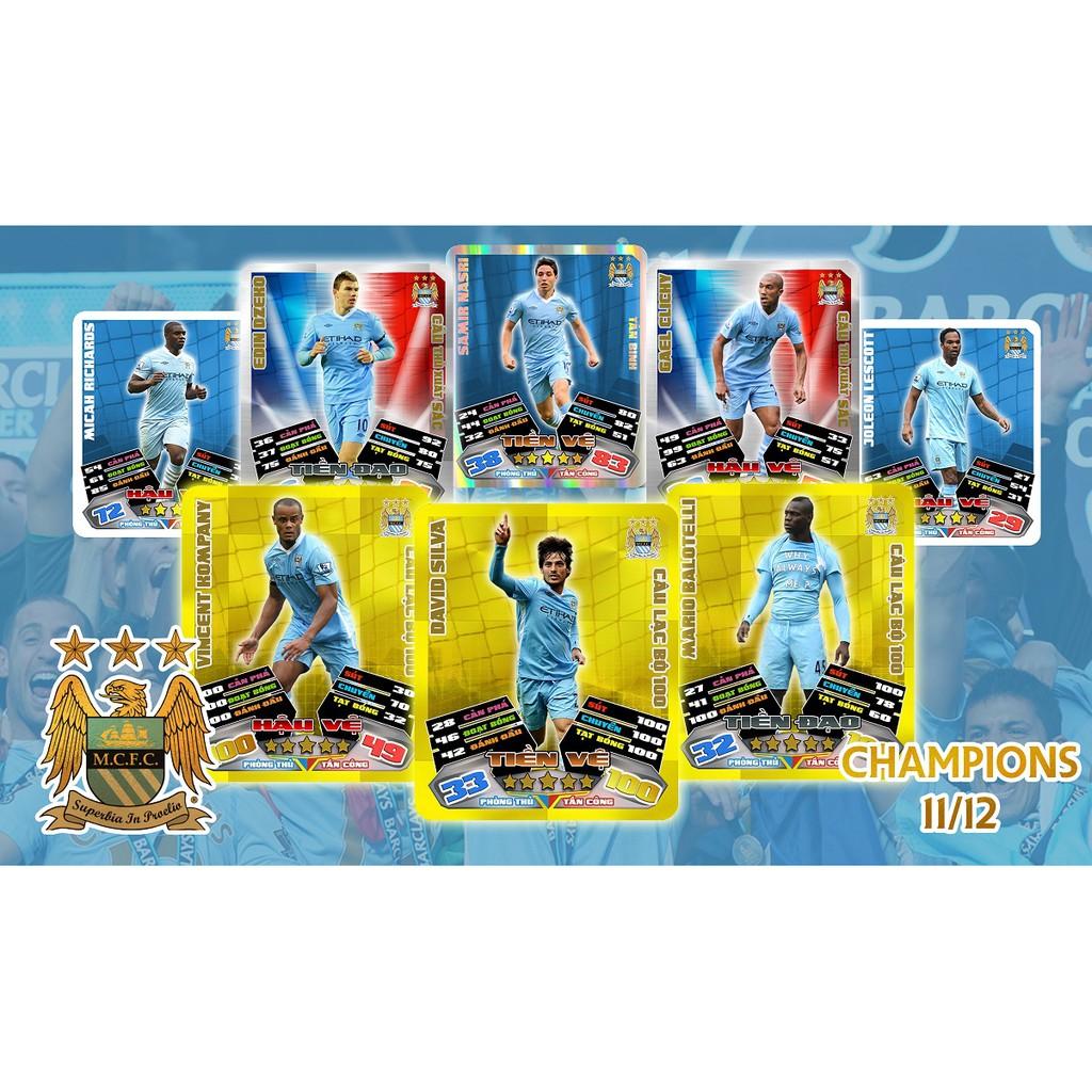 [NEW] – Set thẻ in Poca Match Attax 2011/12 – Manchester City