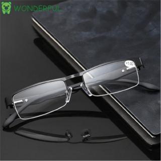 WONDERFUL Flexible Portable Magnifying Metal Titanium Alloy Ultra Light Resin Eye wear Business Reading Glasses