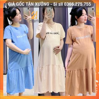 Váy bầu thiết kế dự tiệc mùa hè dáng suông đuôi cá xinh đẹp giá rẻ V113 thumbnail