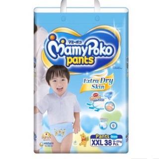 Tã bỉm quần mamypoko xxl38 boy Date 2023