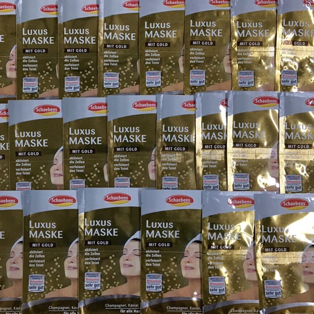 Mặt nạ vàng non Luxus Maske Mit Gold