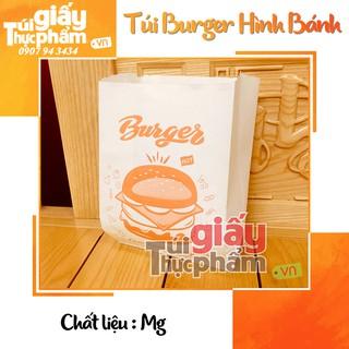 [Mã HC0505 giảm 8% đơn 250K] 1000 Túi Đựng Burger (giấy hút dầu MG - Hình Bánh)