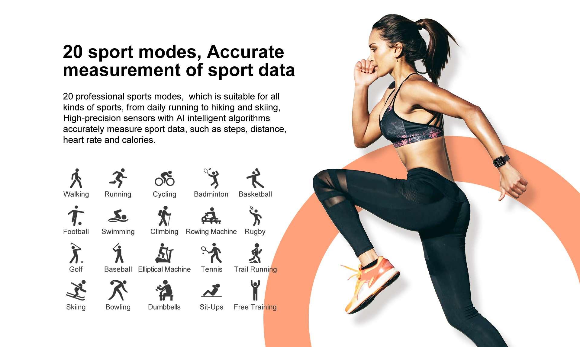 ANDROID Đồng Hồ Thông Minh Kết Nối Bluetooth Chống Nước 20-sport Magic 3
