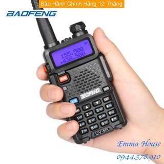 [Mã ELTECHZONE giảm 6% đơn 500K] [Bản Tiếng Anh] Bộ đàm Baofeng UV-5R FM 100-240V Walkie Talkie có đèn LED