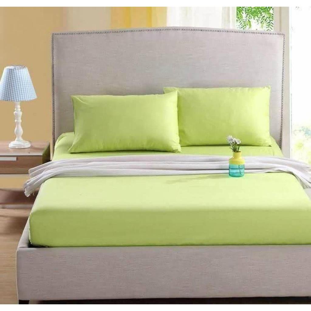 nna-00914 ชุดผ้าปูที่นอนสีพื้น 6 ฟุต 5 ชิ้น สีเขียวna-00914 ชุดผ้าปูที่นอนสีพื้น 6 ฟุต 5 ชิ้น สีเขียว