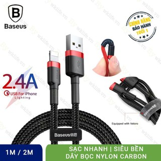 Dây Sạc iPhone Ipad Chính Hãng Baseus Cafule – Cáp Lightning – USB – Dài 1M – 2M