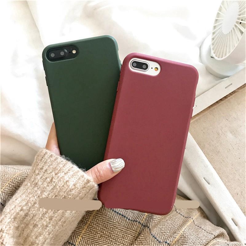 Ốp lưng TPU silicone đơn giản cho IPhone 6 6S 7 8 Plus XS Max X