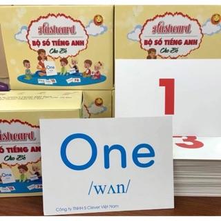Combo 2 bộ thẻ học thông minh song ngữ cho bé từ 0-6 tuổi (10x14cm)