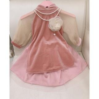 Váy dài tay mùa thu cho bé
