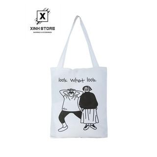 Túi Vải Đeo Vai Tote Bag Look What XinhStore