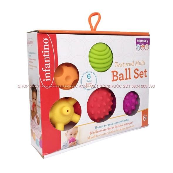 Bộ 06 quả bóng kích thích giác quan cho trẻ em Infantino - 2583557 , 63132013 , 322_63132013 , 355000 , Bo-06-qua-bong-kich-thich-giac-quan-cho-tre-em-Infantino-322_63132013 , shopee.vn , Bộ 06 quả bóng kích thích giác quan cho trẻ em Infantino