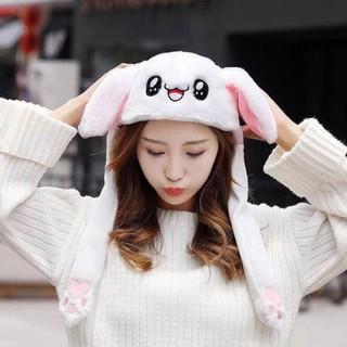 Mũ nón lông tai thỏ vẫy 2 tai