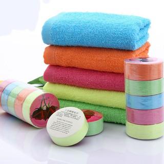 Disposable Compressed Towel Portable Travel Cotton Towels Color Random