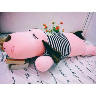 Thú nhồi bông chó dài, màu hồng, ngủ rất đáng yêu kV 1m2