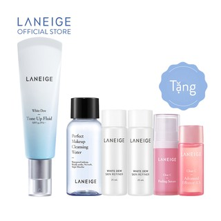 Sữa dưỡng trắng và nâng tông da Laneige White Dew Tone-Up Fluid Cream 50ml Tăng bộ sản phẩm dưỡng trắng da