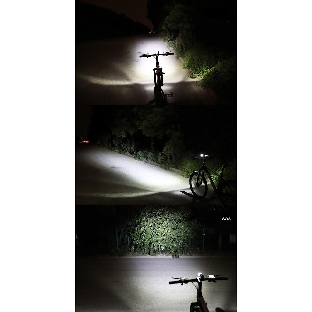 Đèn trước xe đạp siêu sáng, sạc USB HJ-047
