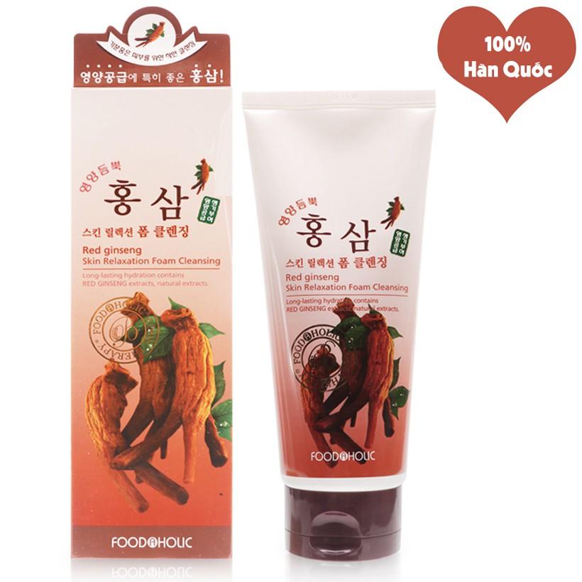 Sữa Rửa Mặt Làm Mềm Dịu Làn Da Foodaholic Green Tea Foam Cleansing 180ml