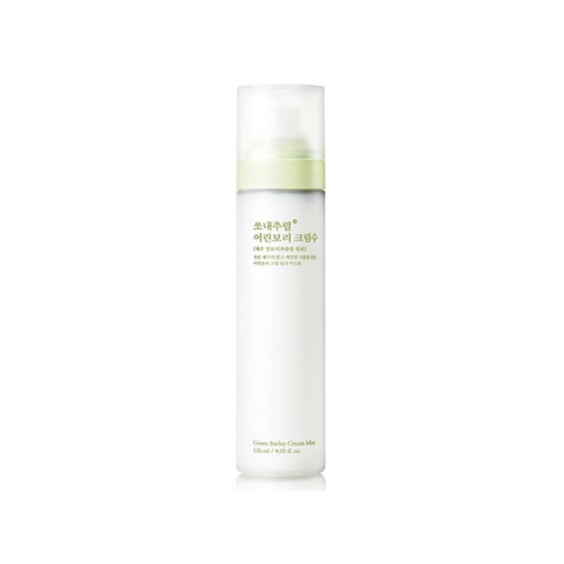Xịt Khoáng Cấp Ấm Dưỡng Da Mầm Lúa Mạch Green Barley Cream Mist So Natural (120ML)