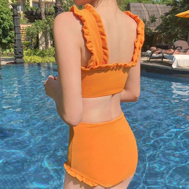 Bikini Vàng Cam 2 mảnh cạp cao (hàng có sẵn)