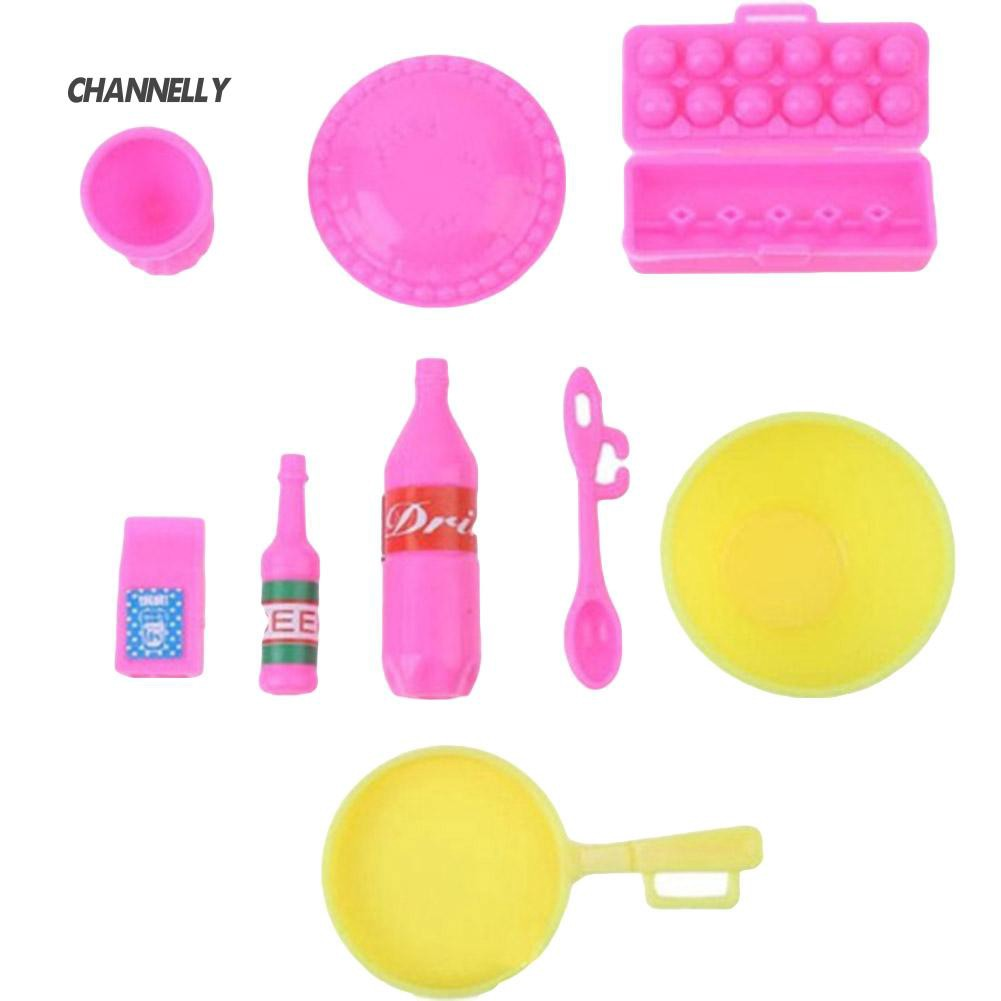 ■Cy Kid Girl Toy Play House Plastic Kitchen Ware Cooking Utensil for Doll Decor