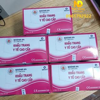 Khẩu trang y tế khánh an màu hồng hộp 50 cái kháng khuẩn – Hàng sẵn – Hình Thật – Bảo hành chính hãng