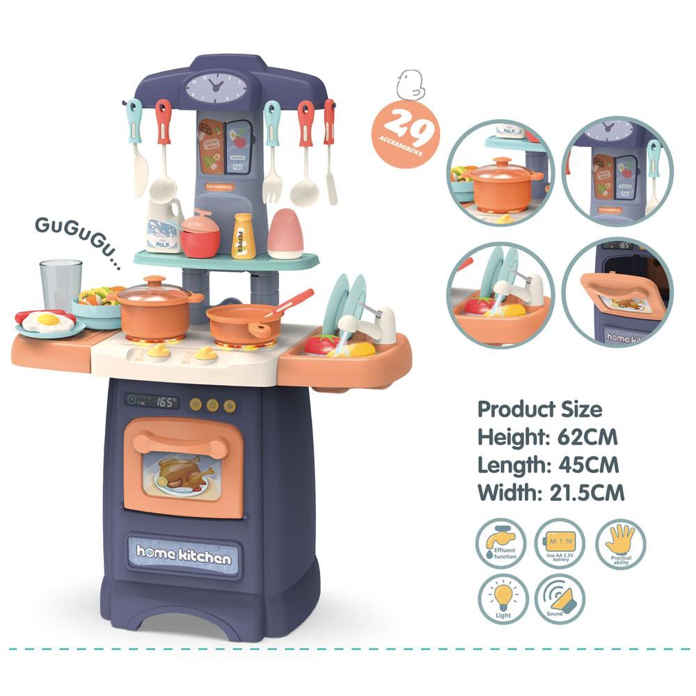 Bộ bếp nấu ăn đồ chơi có khả năng nấu kệ rủa chén bơm được nước Bằng Nhựa ABS