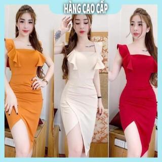 Đầm Nữ – Đầm body tay bèo xếp ly sang chảnh (HÀNG SIÊU ĐẸP) Xinh