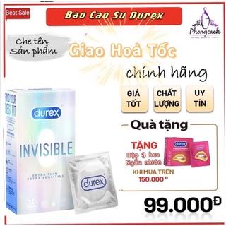 Bao cao su BCS durex invisible 10 bao / hộp. sIEU MONG [trắng mã 002 ]
