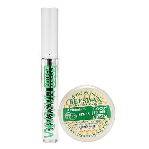 Kem dưỡng dầu dừa sáp ong 25gr + mascara Coco Secret 7ml