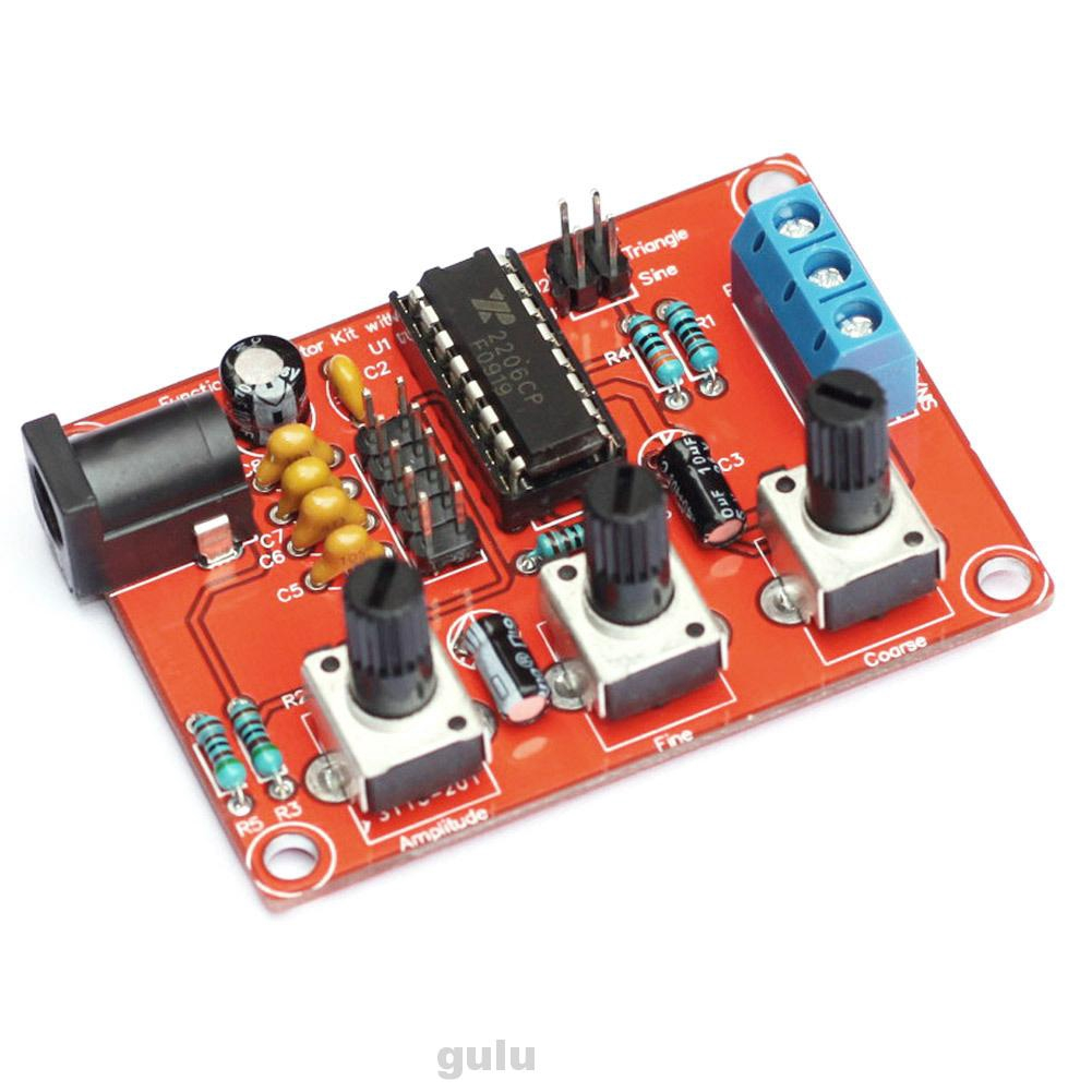 XR2206 Signal Generator DIY Kit 1Hz-1MHz Easy Install Adjustable Frequency Sine/Triangle/Square Durable