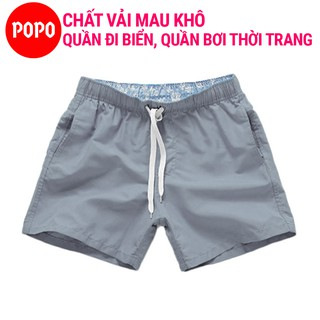 Đồ bơi nam POPO ST1 quần bơi nam kiểu ngắn short chất vải mau khô dùng đi bơi đi biển thumbnail