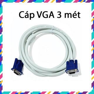 Dây VGA – Cáp VGA 3 mét – 2 đầu màu xanh – Chống nhiễu – Bảo hành 3 tháng